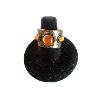 Vintage Orange Opal Ring